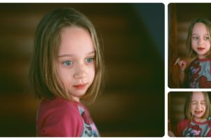 portraits of young girl