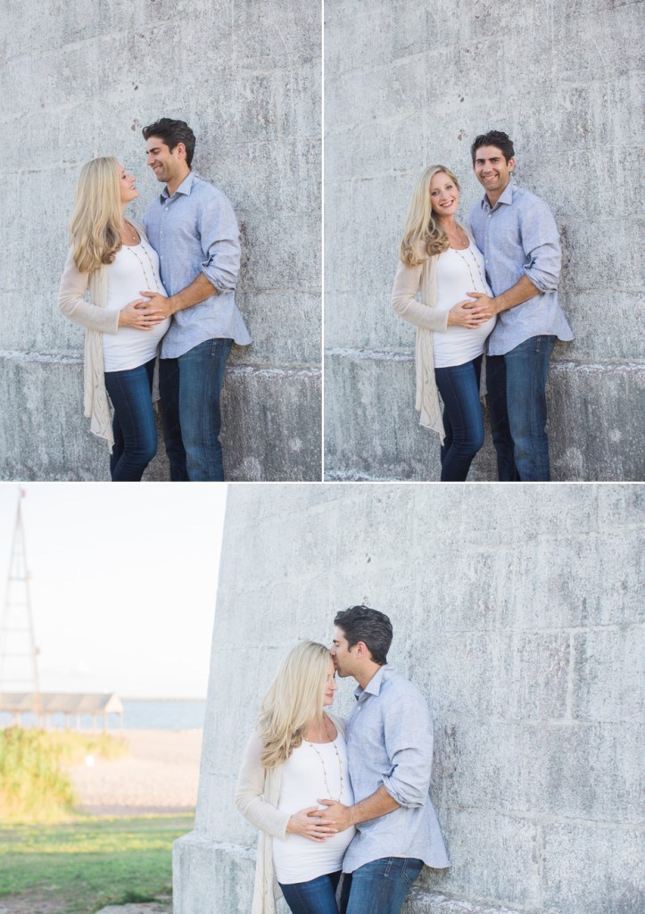 lighthouse maternity session