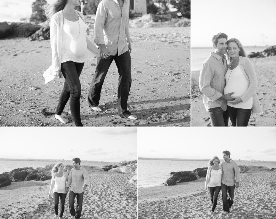 outdoor couple maternity beach
