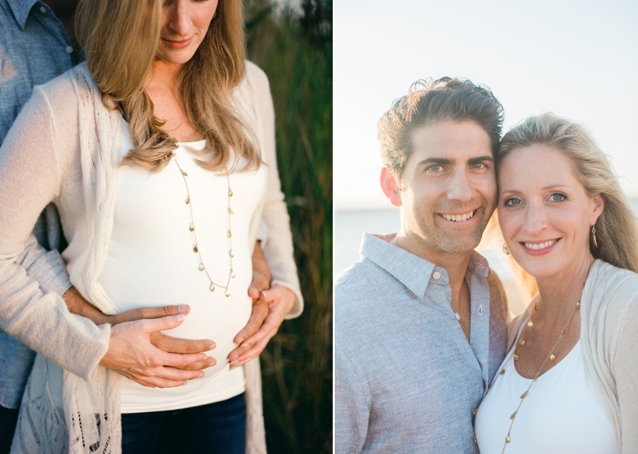 maternity couple beach session