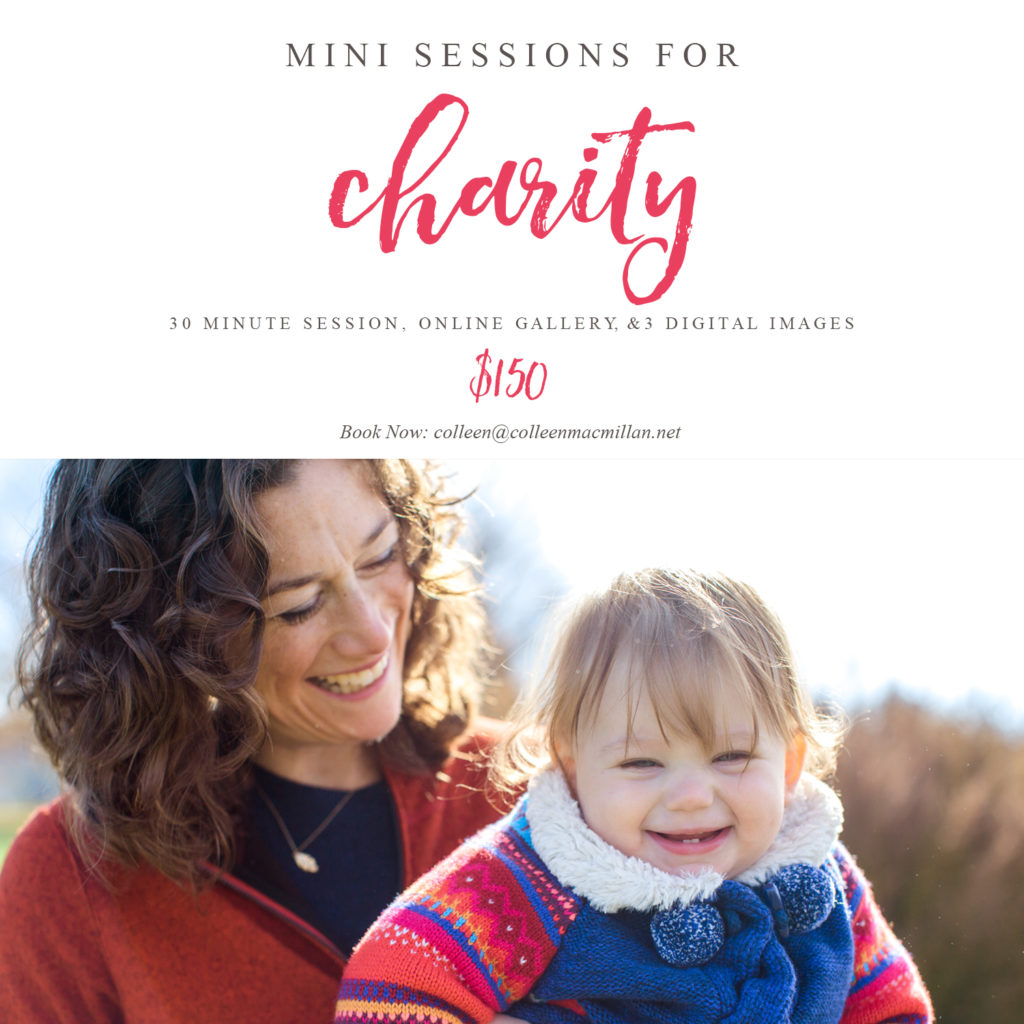 mini sessions for charity, sparrow's nest, photography mini session