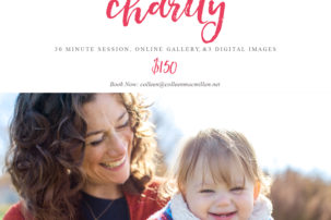 mini session for charity, sparrow's nest, photography mini session